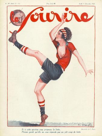 Le Sourire, Football Soccer Glamour Magazine, France, 1927