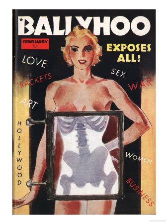 Ballyhoo, Glamour X-Rays Pin-Ups Magazine, USA, 1930