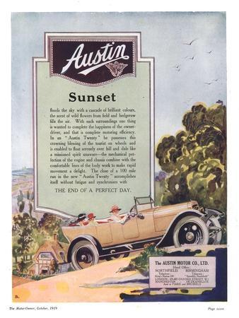 Austin, Cars, UK, 1919