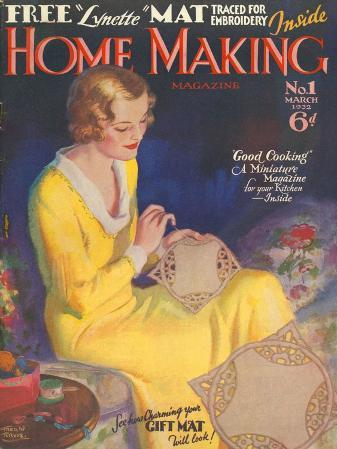 Home Making, Housewives Sewing First Issue Magazine, UK, 1932