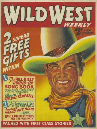 Wild West, Cowboys Westerns Pulp Fiction First Issue Magazine, USA, 1938