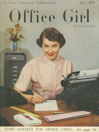 Office Girl, Womens Secretaries Portraits Magazine, UK, 1951