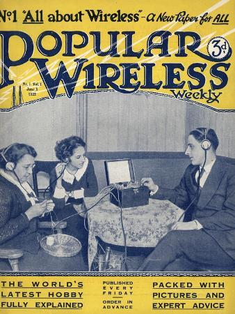 Popular Wireless, First Issue Radio Magazine, UK, 1922