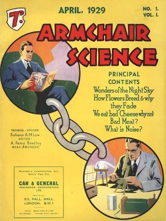 Armchairs Science, First Issue Magazine, UK, 1929