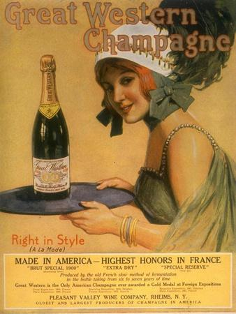 Great Western Champagne, Alcohol, USA, 1920