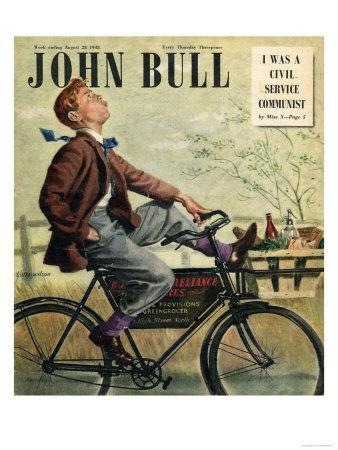 John Bull, Bicycles Groceries Delivery Boys Magazine, UK, 1948