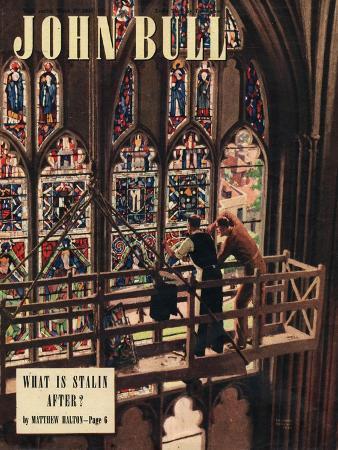 John Bull, Churches Stained Glass Windows Repairs Magazine, UK, 1948