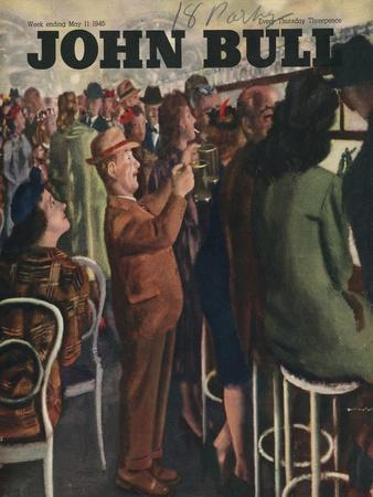 John Bull, Alcoholic Short Men Queues Magazine, UK, 1946