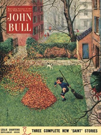 John Bull, Windy Autumn Dogs Magazine, UK, 1953