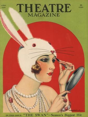Theatre Magazine, Rabbits Bunny Girls Make Up Makeup Magazine, USA, 1924