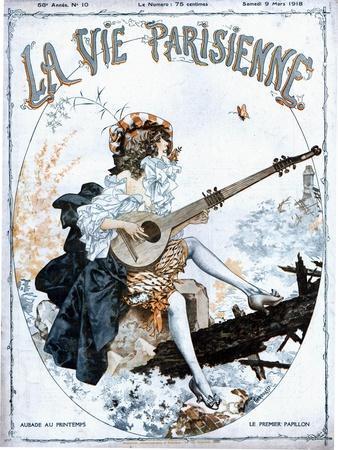La Vie Parisienne, Glamour Musical Instruments Magazine, France, 1918