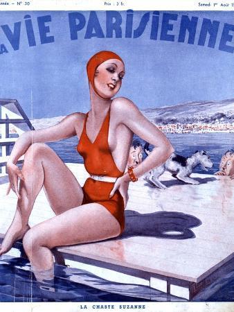La Vie Parisienne, Glamour Womens Swimwear Fashion Magazine, France, 1936