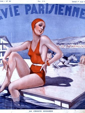 La Vie Parisienne, Glamour Womens Swimwear Fashion Magazine, France, 1936