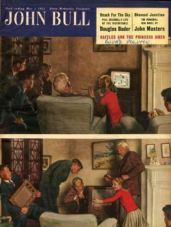 John Bull, Family Parents TV Radios Children Magazine, UK, 1954