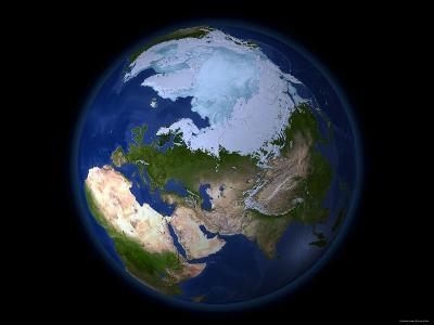 Full Earth Showing the Arctic Region