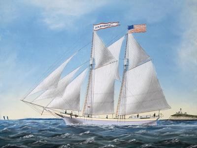 America's Cup Yacht Race of 1885: the Puritan and the Genesta, 1886