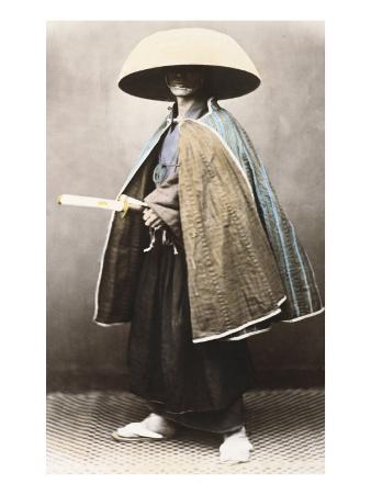 Japanese Samurai in Traditional Costume, 1868