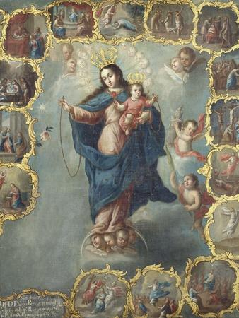 The Immaculate Conception with the Fifteen Mysteries of the Rosary