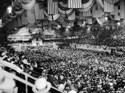 Gen Robert Wood and Col. Charles Lindbergh Speak at America First Committee Rally