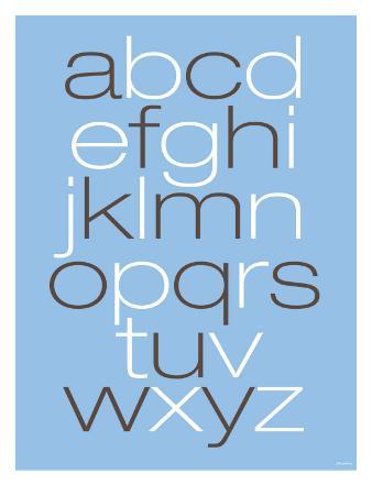 Lower Case Alphabet on Blue