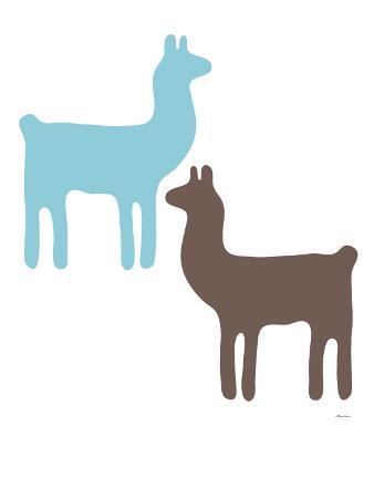 Blue Llama Couple
