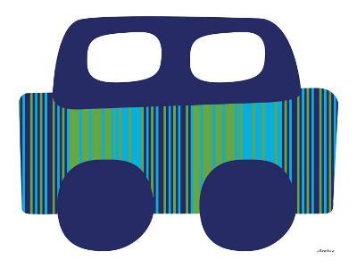 Blue Stripe Car