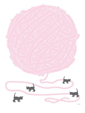 Pink Ball of Yarn