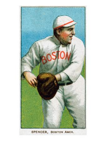 Boston, MA, Boston Red Sox, Tubby Spencer, Baseball Card