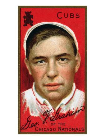 Chicago, IL, Chicago Cubs, George F. Graham, Baseball Card