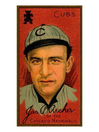 Chicago, IL, Chicago Cubs, James P. Archer, Baseball Card