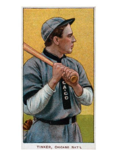 Chicago Il Chicago Cubs Joe Tinker Baseball Card
