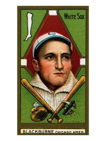 Chicago, IL, Chicago White Sox, Russell A. Blackburne, Baseball Card