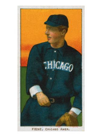 Chicago, IL, Chicago White Sox, Lou Fiene, Baseball Card