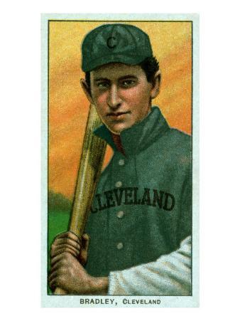 Cleveland, OH, Cleveland Naps, Bill Bradley, Baseball Card
