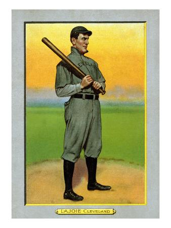 Cleveland, OH, Cleveland Naps, Nap Lajoie, Baseball Card