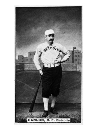 Detroit, MI, Detroit Wolverines, Ned Hanlon, Baseball Card