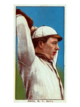 New York City, NY, New York Giants, Red Ames, Baseball Card