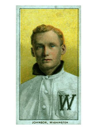 Washington D.C., Washington Nationals, Walter Johnson, Baseball Card