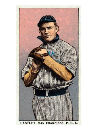 San Francisco, CA, San Francisco Pacific Coast League, Eastley, Baseball Card