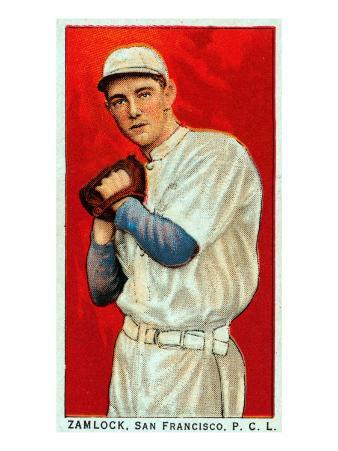 San Francisco, CA, San Francisco Pacific Coast League, Zamlock, Baseball Card