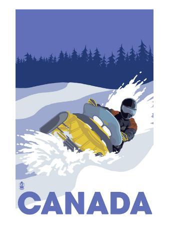 Canada, Snowmobile Scene