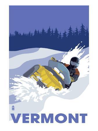 Vermont, Snowmobile Scene