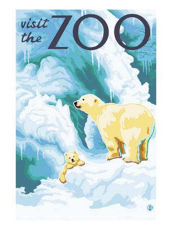 Visit the Zoo, Polar Bear and Cub