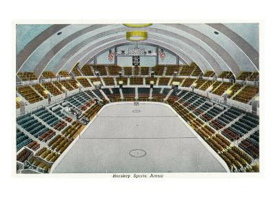 Hershey, Pennsylvania, Interior View of the Hershey Sports Arena
