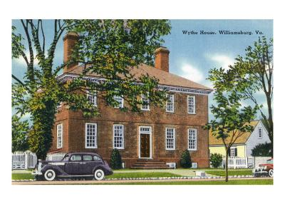 Exterior View of the Wythe House, Williamsburg, Virginia