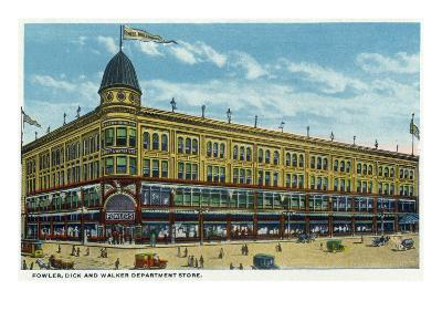 Binghamton, New York, Exterior View of the Fowler, Dick, and Walker Department Store