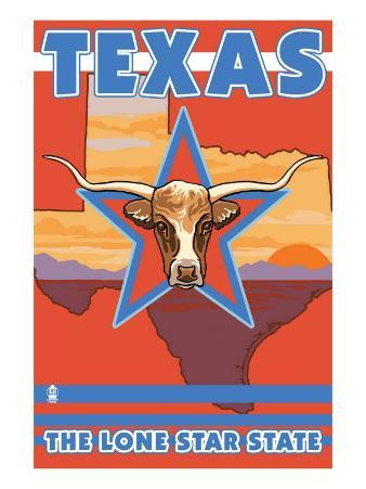 Texas, The Lone Star State, Longhorn Bull