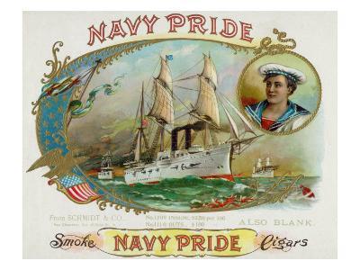 Navy Pride Brand Cigar Box Label