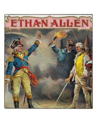 Ethan Allen Brand Cigar Box Label