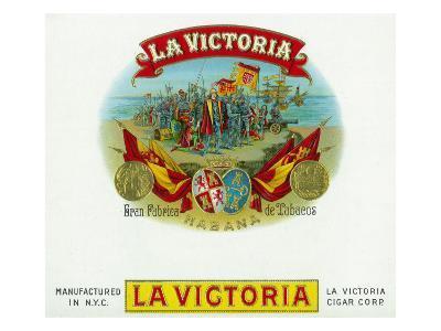 La Victoria Brand Cigar Box Label